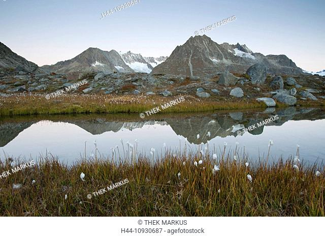 Olmenhorn, Zenbächenhorn, Europe, Alps, alpine, mountain, mountains, mountains, lake, Switzerland, Valais, view, water, lake, mountain lake, reflection