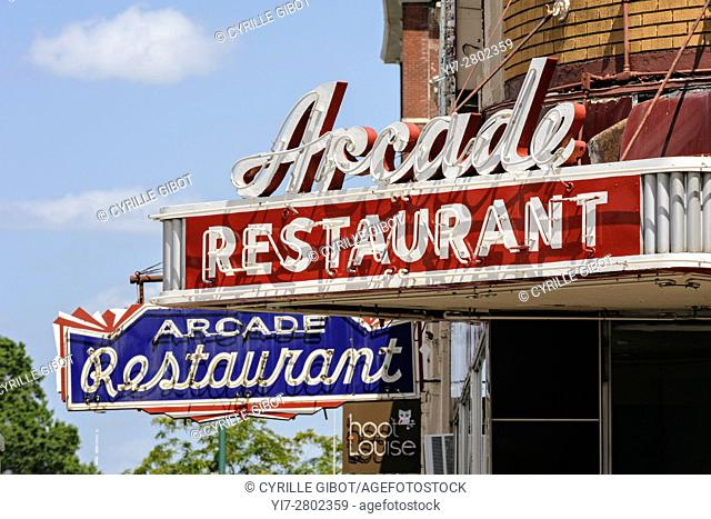 The Arcade, a traditional dinner restaurant in Memphis, Tennessee, USA