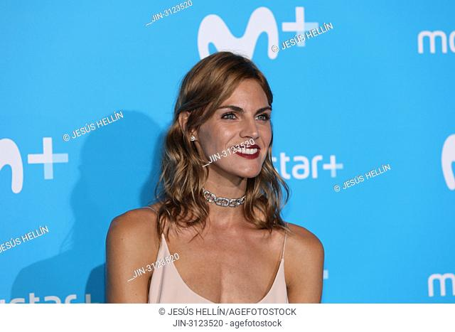 Amaia Salamanca, Spanish actress. The Upfront of Movistar + has been inaugurated with a blue carpet through which the main protagonists of the contents of the...