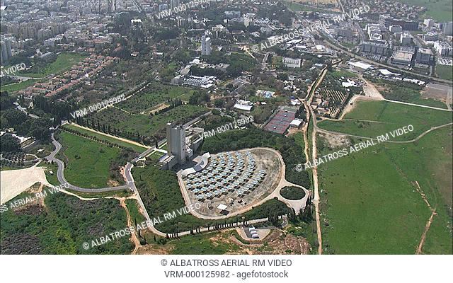 Aerial footage of Weizmann Institute of Science and solar panels