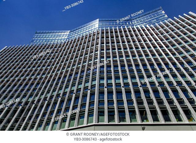 One Fen Court Building, Photographed From Street Level, London, England