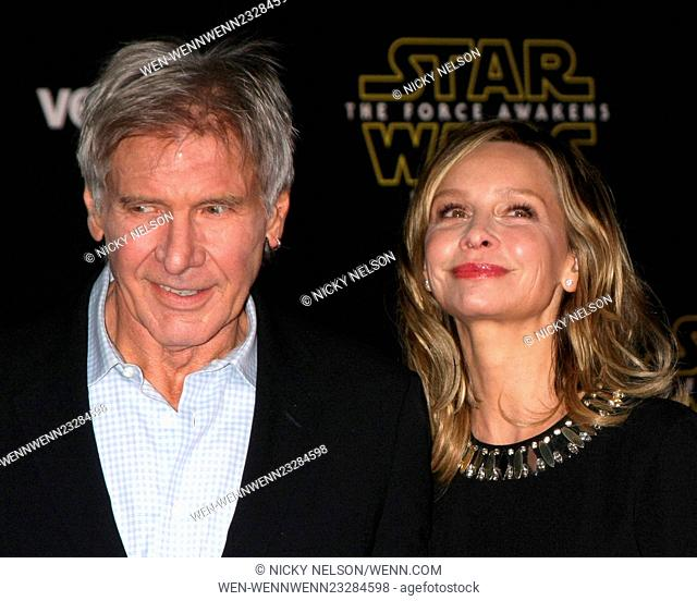 Star Wars - The Force Awakens World Premiere Featuring: Harrison Ford, Calista Flockhart Where: Los Angeles, California, United States When: 15 Dec 2015 Credit:...