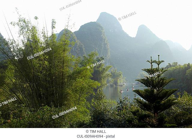 Peaceful scene in Yangshuo, China