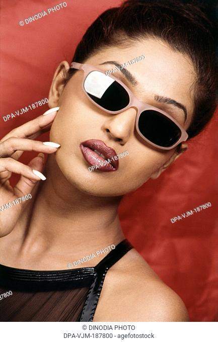 2001, Portrait of Indian film actress and model Suman Ranganathan