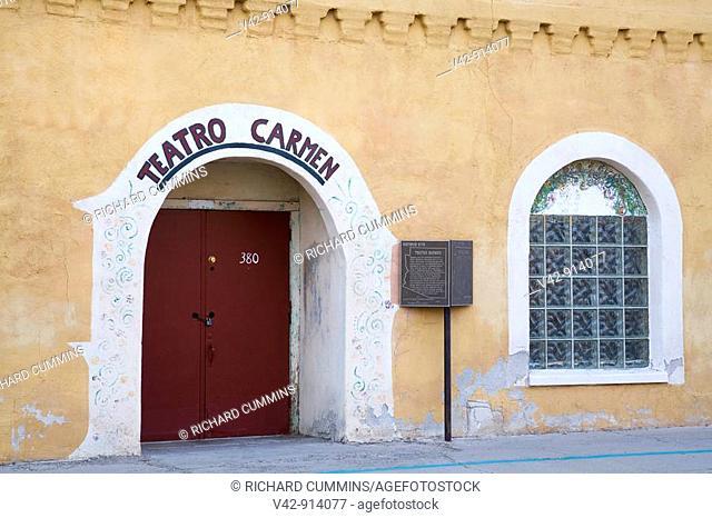 Teatro Carmen, Barrio Historico District, Tucson, Pima County, Arizona, USA