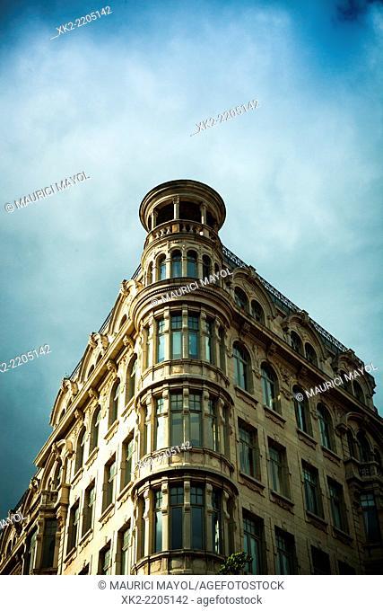 Classical wealthy building in Antwerp, Belgium