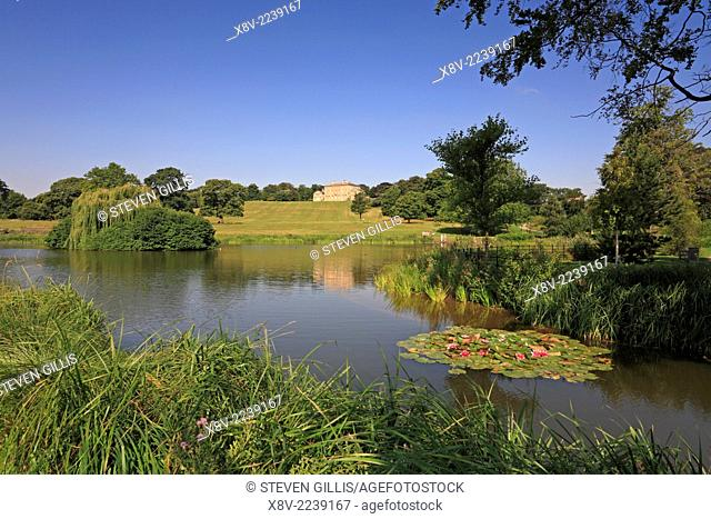 Cusworth Hall Park and Lake, Doncaster, South Yorkshire, England, UK,