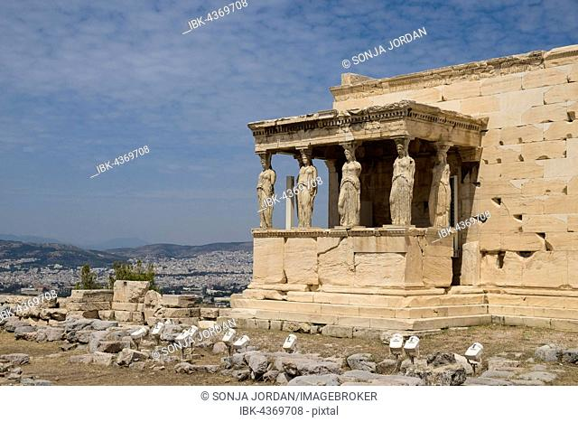 Erechtheion Temple with Caryatids, Caryatid Porch, Acropolis, Athens, Greece