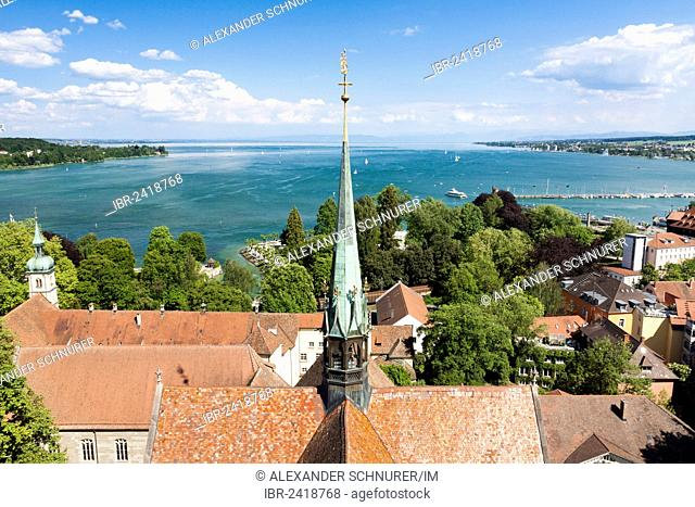 View from Konstanz Minster of Our Lady towards Lake Constance, Konstanz, Lake Constance, Baden-Wuerttemberg, Germany, Europe, PublicGround