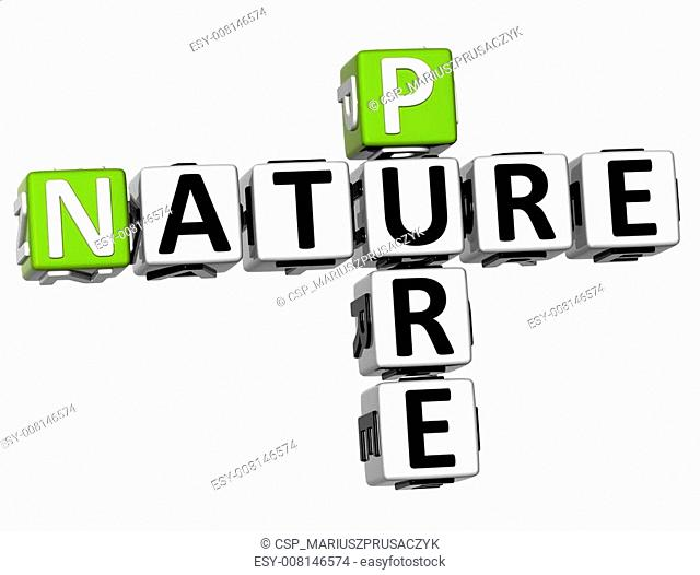3D Pure Nature Crossword text