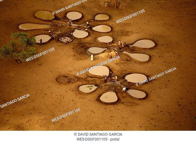Chad, Zakouma National Park, Water wells for animals in Gara