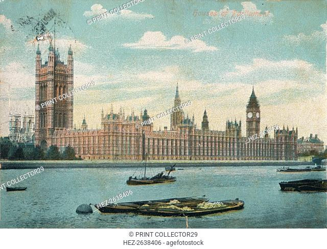 'Houses of Parliament', 1906, (c1900-1930). Artist: Unknown