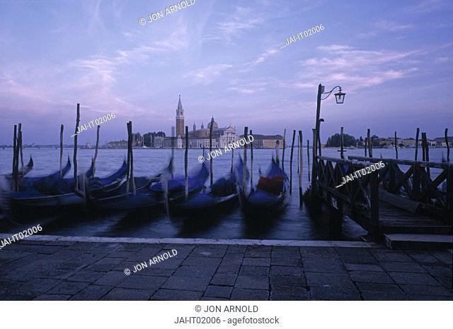 Gondolas St. Mark's Square Venice Italy