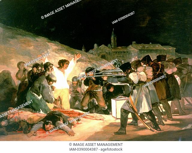 Francisco Goya 1746-1828 Spanish painter  'The Shootings of May 3rd 1808'  Painted in 1814 for Ferdinand VII  Painting is forceful