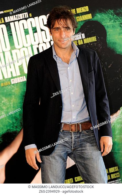 adriano giannini; giannini; actor; celebrities; 2015;rome; italy;event; photocall; ho ucciso napoleone
