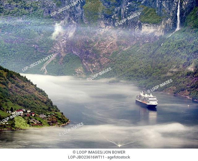 The magnificent Geiranger Fjord in the Sunnmore region of More og Romsdall in Norway