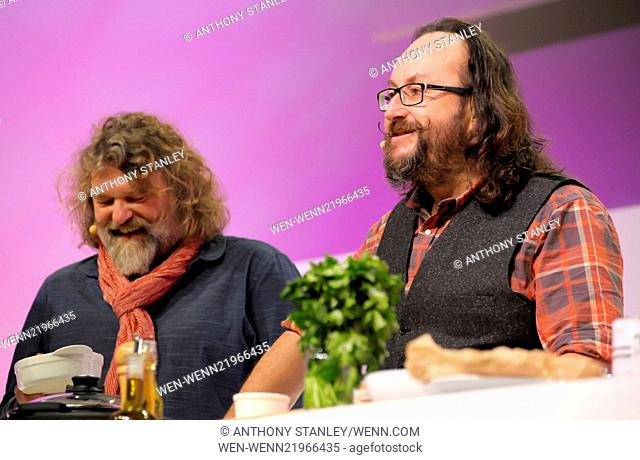 BBC Food Show Winter 2014 Featuring: Hairy Bikers,Si King,Dave Myers Where: Birmingham, United Kingdom When: 26 Nov 2014 Credit: Anthony Stanley/WENN