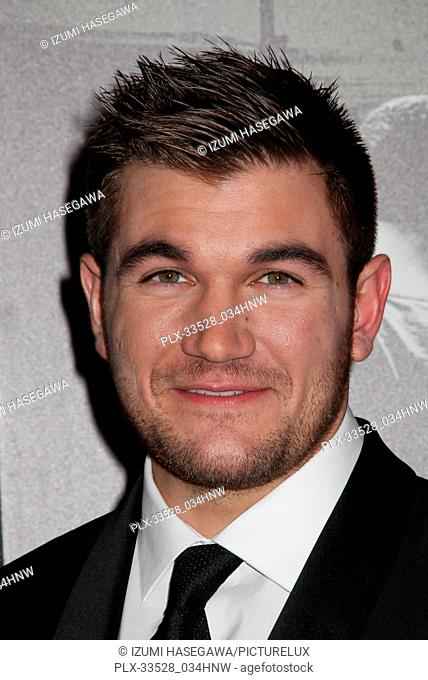"Alek Skarlatos 02/05/2018 The World Premiere of """"The 15:17 to Paris"""" held at The SJR Theater at Warner Bros. Studios in Burbank"