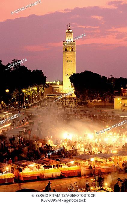 Jemaa el Fna Square. Marrakech. Morocco