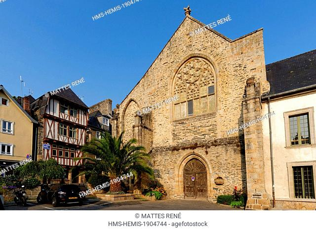 France, Finistere, Morlaix, Place des Jacobins with the old Dominican convent