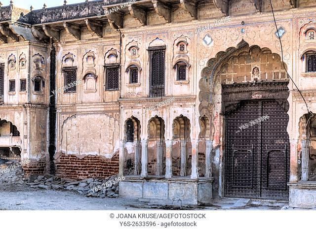 haveli in Mandawa, Jhunjhunu, Rajasthan, India, Asia