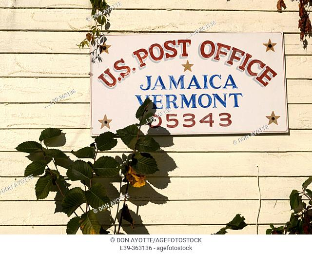 Post office. Jamaica, Vermont. USA