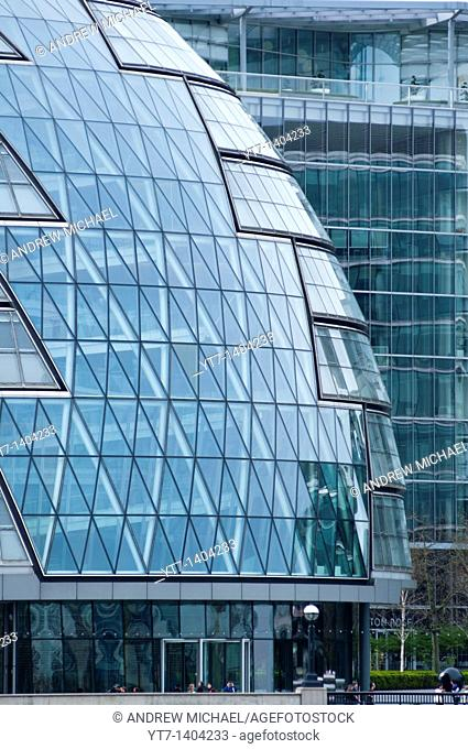 An abstract image of City Hall, home to Mayor of London, London Assembly and Greater London Authority GLA, London, England
