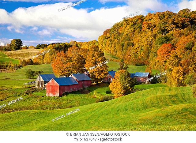 Autumn view of the Jenne Farm near south Woodstock, Vermont, USA