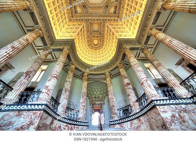 Marble Hall, Holkham Hall, Norfolk, England, UK