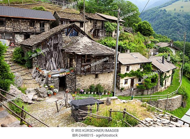 Village of Indemini, Ticino, Switzerland, Europe