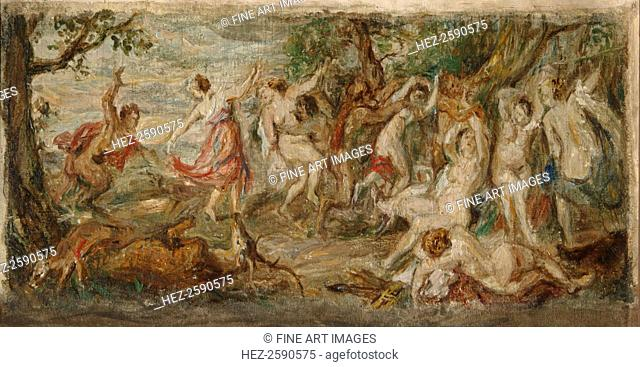 Nymphs and Satyrs, 1920s. Found in the collection of the State Tretyakov Gallery, Moscow
