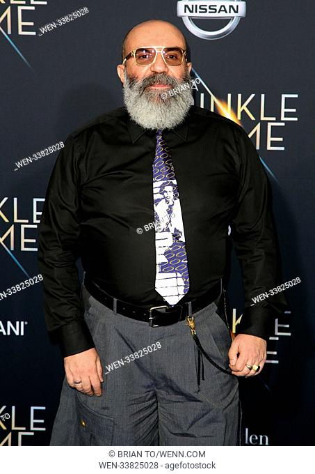 "Celebrities attend World premiere of Disney's ""A Wrinkle in Time"" at El Capitan Theatre in Hollywood. Featuring: Paco Delgado Where: Los Angeles, California"