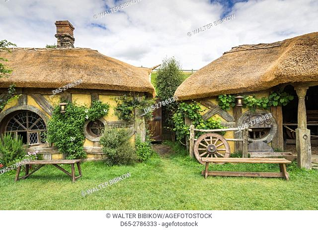 New Zealand, North Island, Matamata, Hobbiton Movie Set, The Green Dragon Tavern