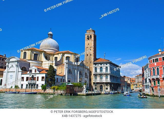 Palazzo Labia and other architecture in junction of Canal Grande and Canale di Cannaregio Venice Italy Europe