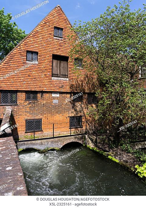 River Itchen WINCHESTER HAMPSHIRE Water mill stream Winchester