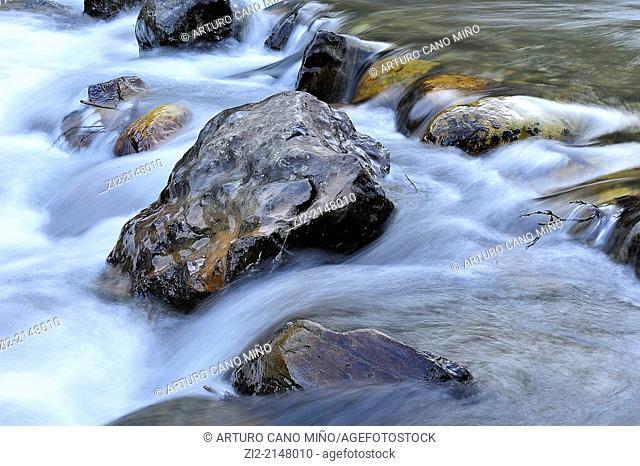 River Celorno. Puebla de Lillo, Leon, Spain