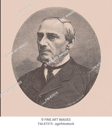 Stepan Mikhaylovich Zhukovsky (1818-1877) by Seryakov, Lavrenty Avksentyevich (1824-1881)/Lithography/Book design/1870s/Russia/Private...