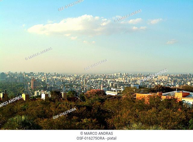 natural view of porto alegre hills
