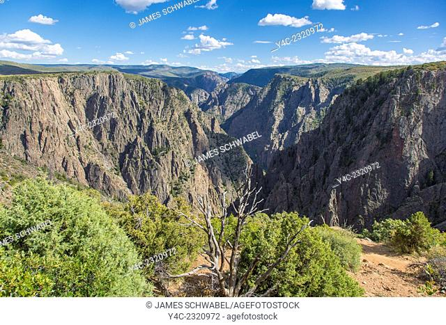 Black Canyon of the Gunnison National Park in western Colorado