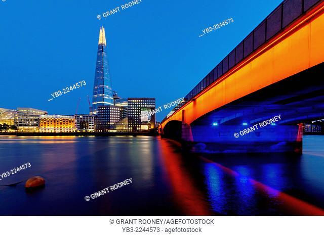 London Bridge and The Shard, London, England