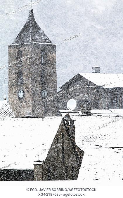 Snow - Ordino - Pyrenees - Andorra - Europe