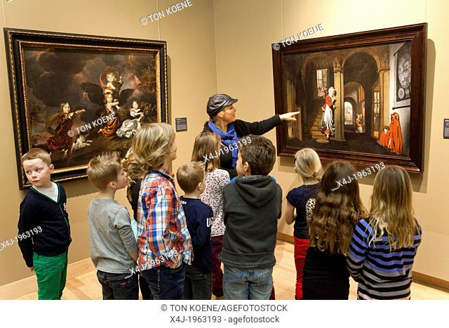 Dutch children at the museum in dordrecht