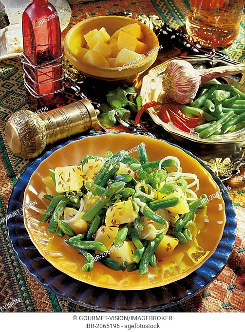 Potato salad with beans, Lebanon