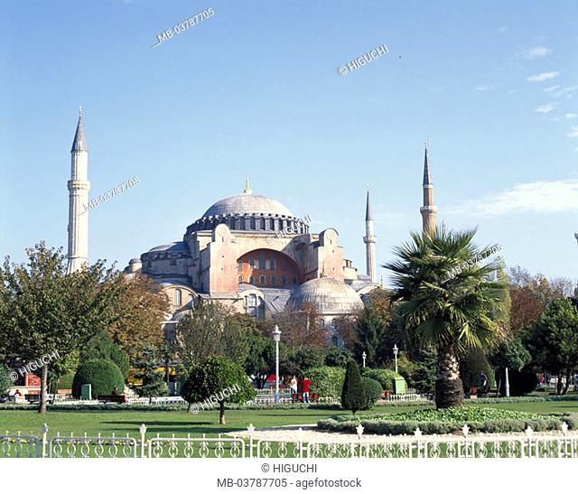 Turkey, Istanbul, Hagia Sophia,  UNESCO-World Heritage Site,  Park Construction, culture, mosque, Ayasofya Camii Müzesi, museum, Hagia-Sophia-Museum, ehem