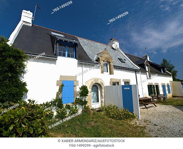 Traditional fishermen's house  Bellevue, Séné, Bay of Morbihan, Brittany, France