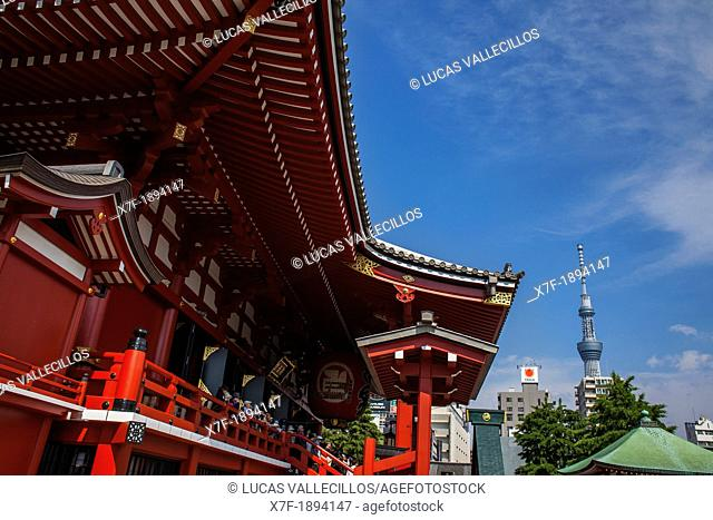 Senso-ji Temple and Tokyo Sky tree Asakusa Tokyo city, Japan, Asia
