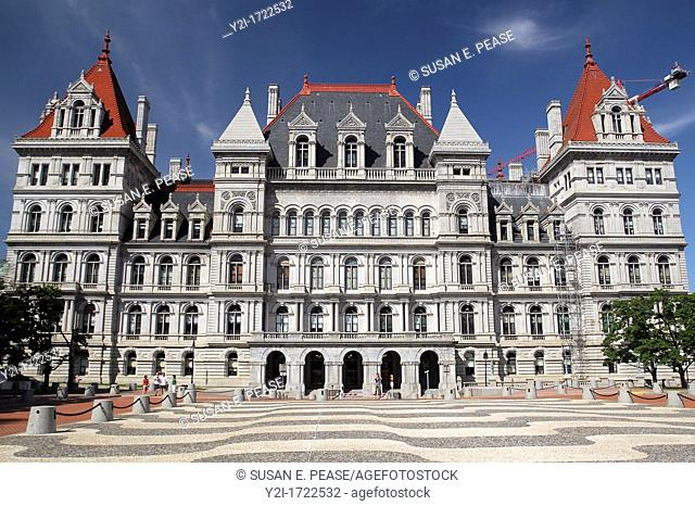 The New York State Capitol completed in 1899  Albany, New York