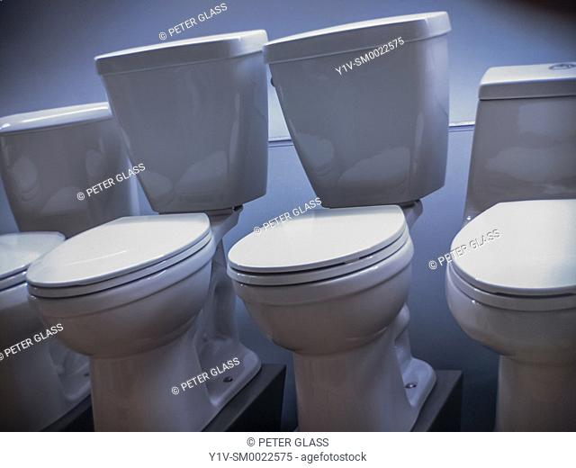 Display of toilets