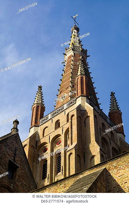 Belgium, Bruges, Church of Our Lady, steeple