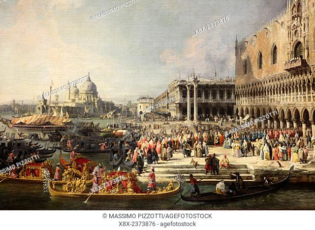 The Entrance to the Grand Canal by Canaletto at Hermitage Museum, Saint Petersburg, Russia